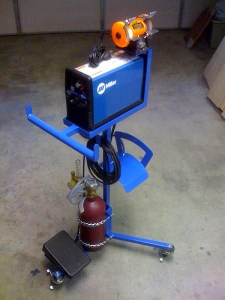 Combat Jump Space Saving Combo TIG Cart and Grinder Stand - WeldingWeb™ - Welding forum for pros and enthusiasts