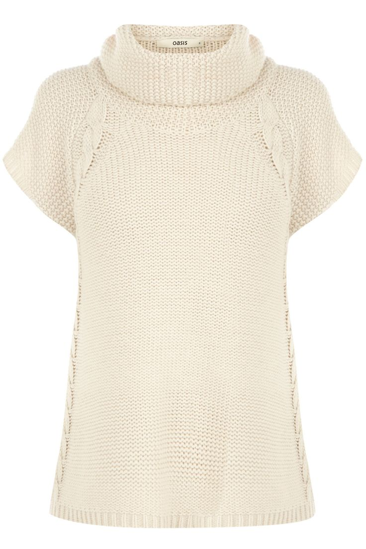 Cable Trapeze Knitted Jumper