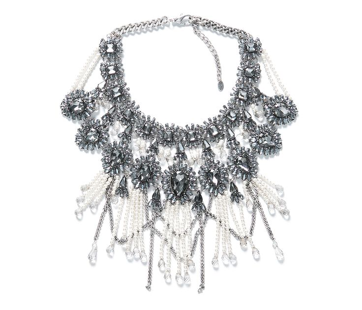 Fringe and Chain Necklace