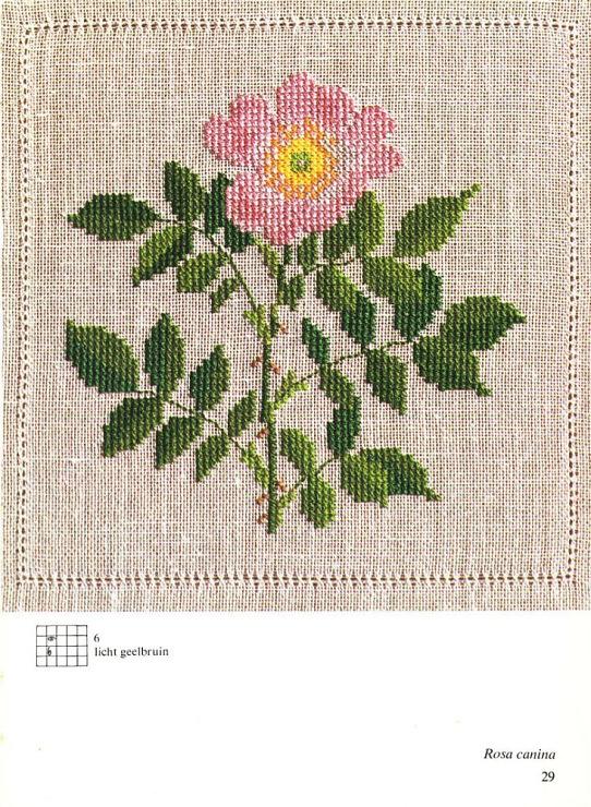 pink flower Cross Stitch
