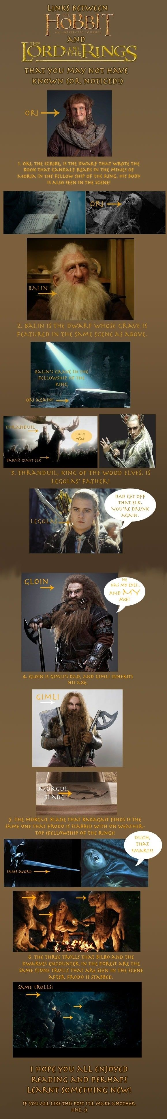 For the Hobbit/LOTR fans. I already knew most of these.