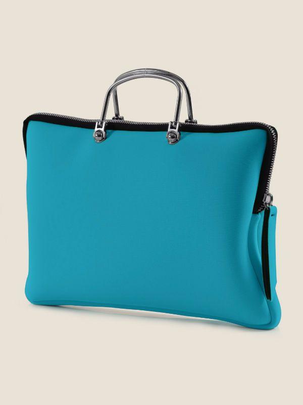 PC CASE SMALL by Leghila | Luevo.com  Leghila  Made in Italy, Leghila has a washable handbag line made from neoprene. Spring Summer '15 as shown on the New York Fashion Week Runway. Pre-order it now exclusively at Luevo.com  #fashion #style #nyfw #fashionweek #runway #outfit #newyork #designer #runway #exclusive  #shoptherunway  #madeinitaly #fashiondesigner #designer #ss15 #springsummer15 #Luevo #handbags #color #washable #neoprene