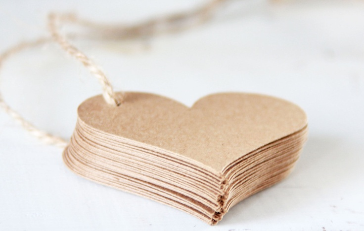 paper heart tags