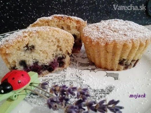 Muffiny s čučoriedkami (fotorecept)