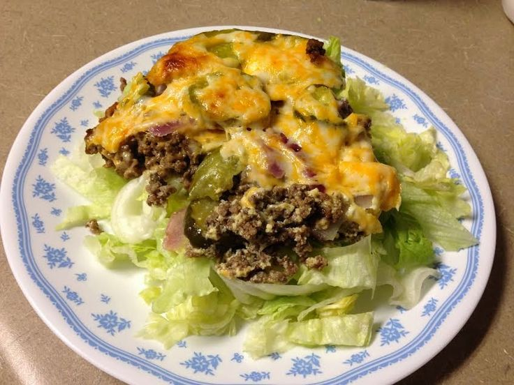 Homemade with a Loving Touch: THM Cheeseburger Pie- S Meal