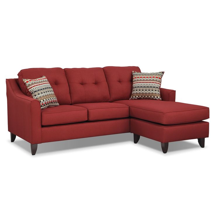 13 best home decorating ideas images on pinterest for Red sectional sofa value city