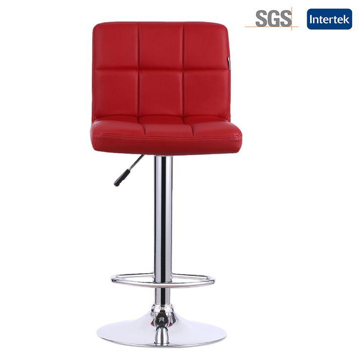 iKayaa US Stock 2PCS/Set PU Leather Swivel Bar Stools Chairs Height Adjustable  Counter Pub Chair Barstools