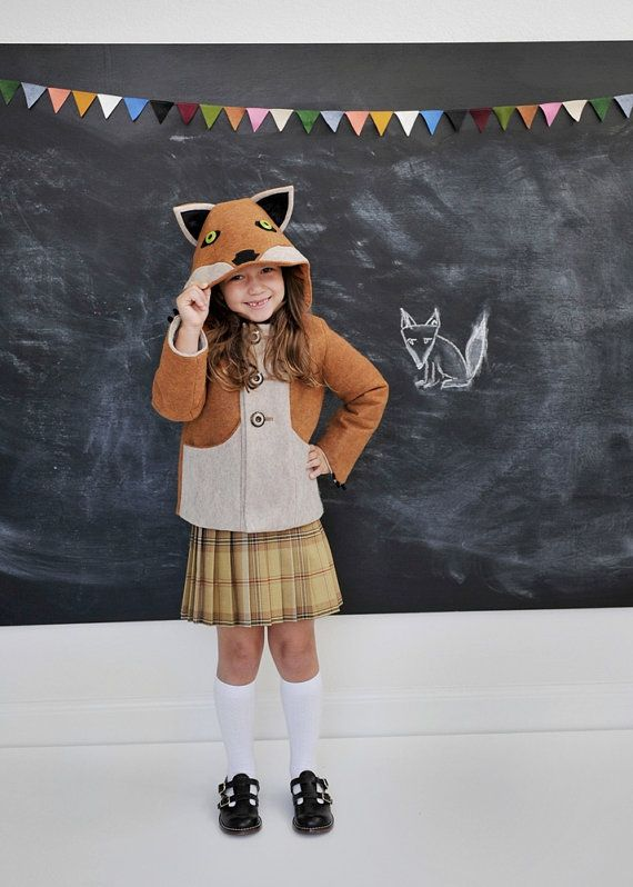 Kids Fantastic Little Fox Coat.Whimsical, colorful, totally foxtastic.