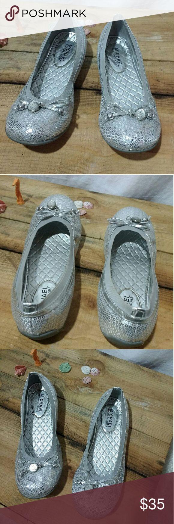 Cute!!! Michael Kors Flats! Silver Sequined Flats! Gorgeous Michael Kors Sequined Flats! Nice! Michael Kors Shoes Flats & Loafers