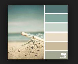 Palet. Derde kleur van boven in de woonkamer? Of vierde?  Tweede kleur van boven in keuken, derde in huiskamer?
