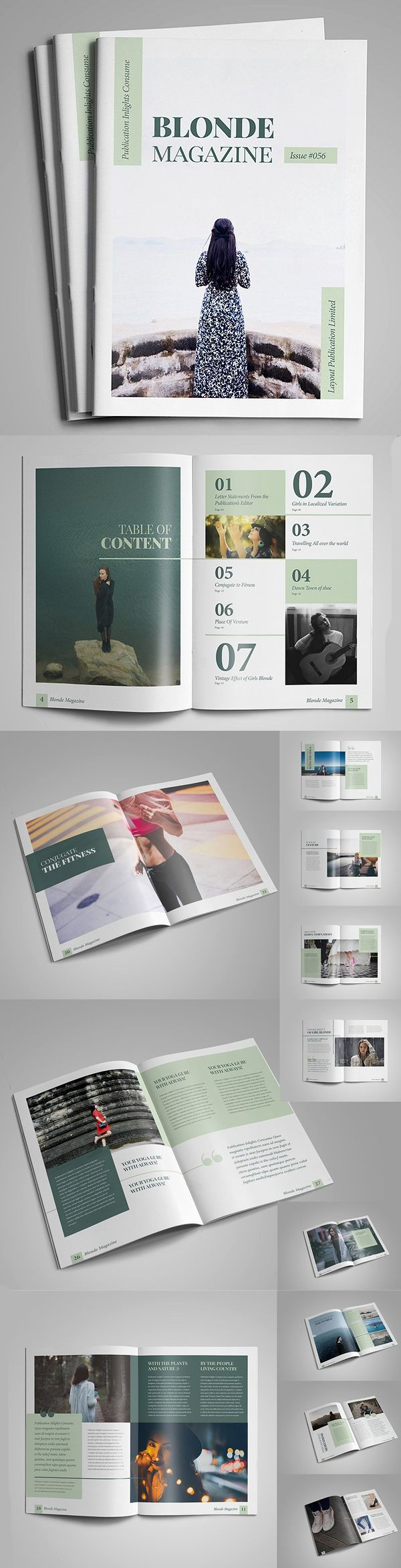 Blonde Magazine / Brochure Template