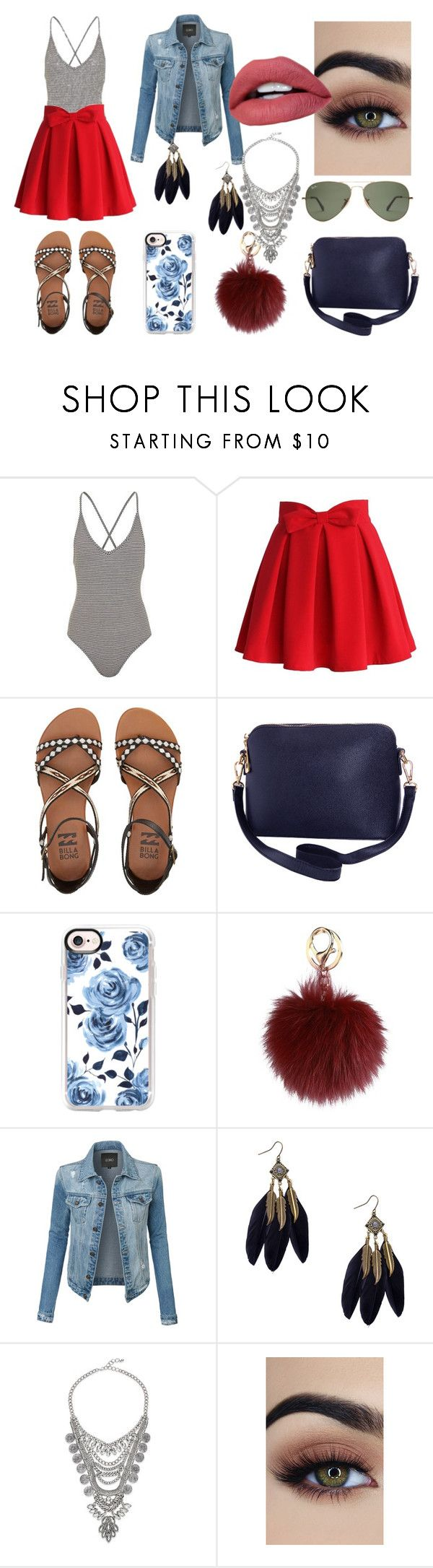 """Xx"" by pinkybunny ❤ liked on Polyvore featuring Topshop, Chicwish, Billabong, Humble Chic, Casetify and LE3NO"