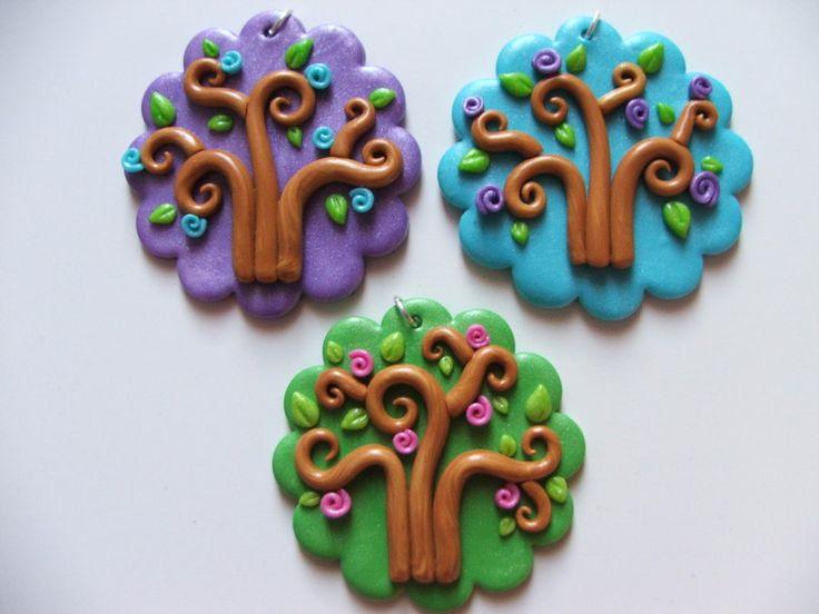 Medalhões Primavera swirly árvores por ~ Libellulina on deviantART