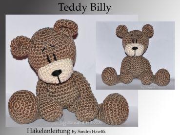 crochet pattern, amigurumi - Teddy Billy - pdf, English or German