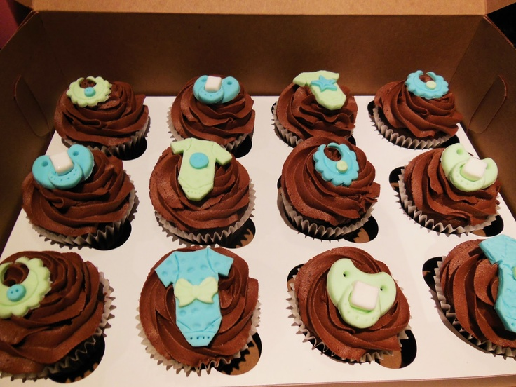 Baby Shower Cupcake Icing Ideas : Baby Shower Cupcakes - Chocolate Cupcakes, chocolate ...