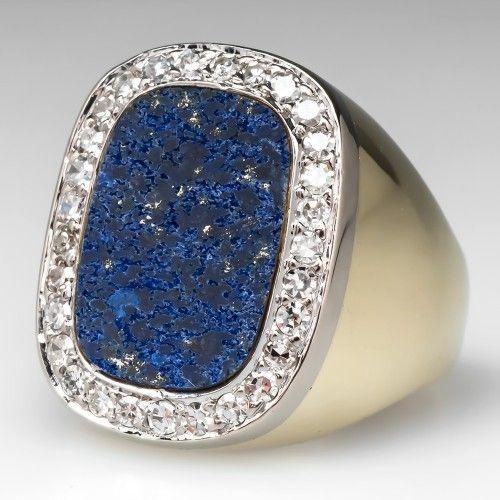 Mens Vintage Lapis Ring