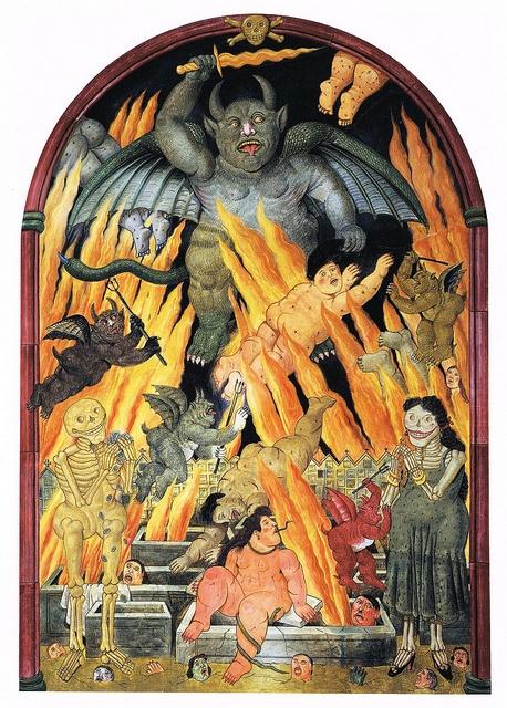 Fernando Botero -Hell (Fresco from Chiesa della Misericordia, Pietrasanta) (1993)
