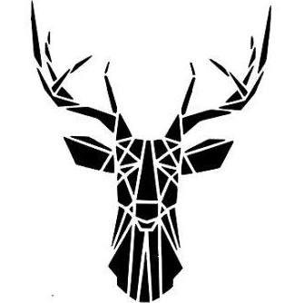 geometric deer vinyl - Google Search