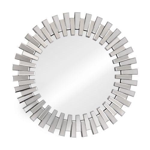 Zuo Modern Sundial Mirror Sundial Framed Sunburst Circular Mirror