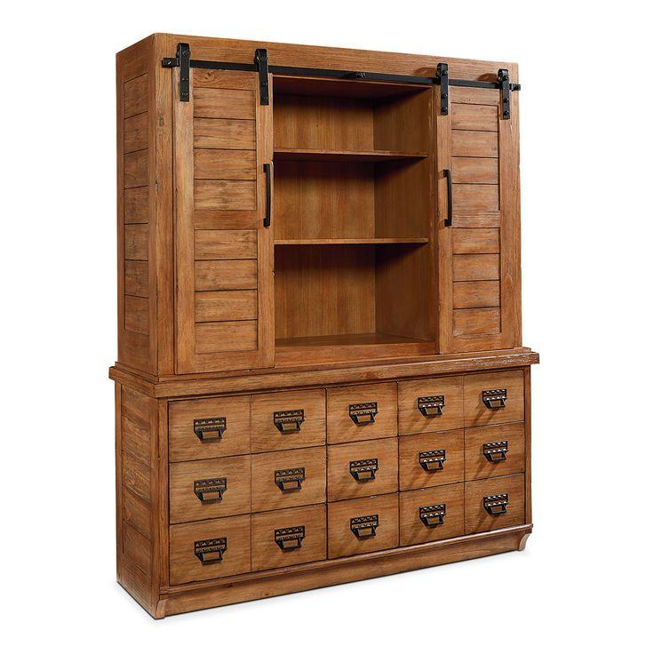 Farmhouse Archive Buffet and Hutch | Magnolia Home for Value City Furniture