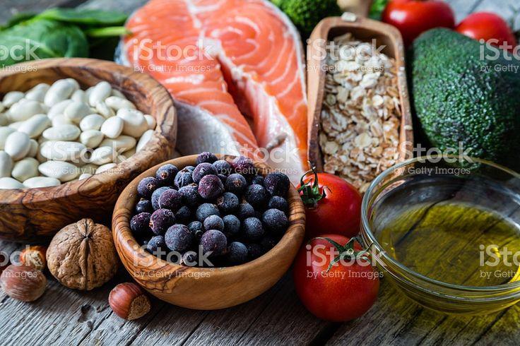 Выбор блюд, которые полезны для сердца Стоковые фото Стоковая фотография