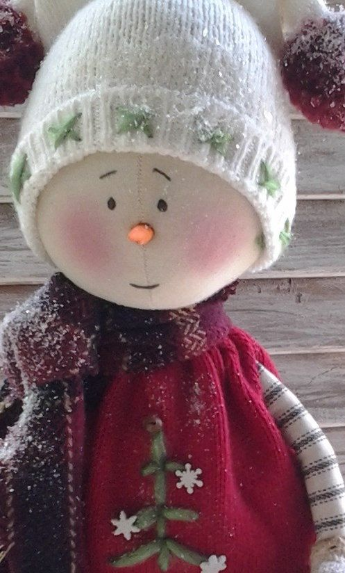 Primitive Pattern  Primitive Christmas Snowman Jake E-Pattern
