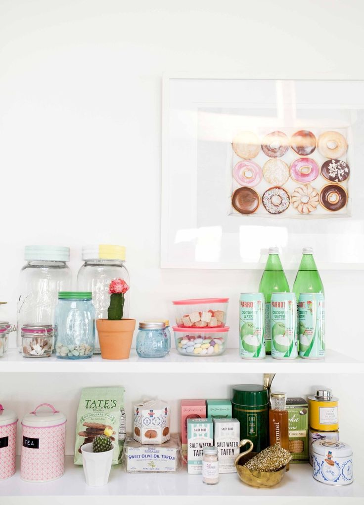 Joy Cho's Grown-Up Candyland Kitchenette -- that donut picture!