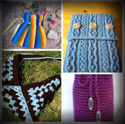 padrões de saco de crochet