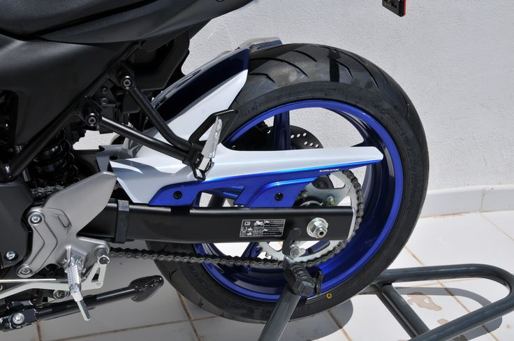 Twin colors rear hugger with chain guard