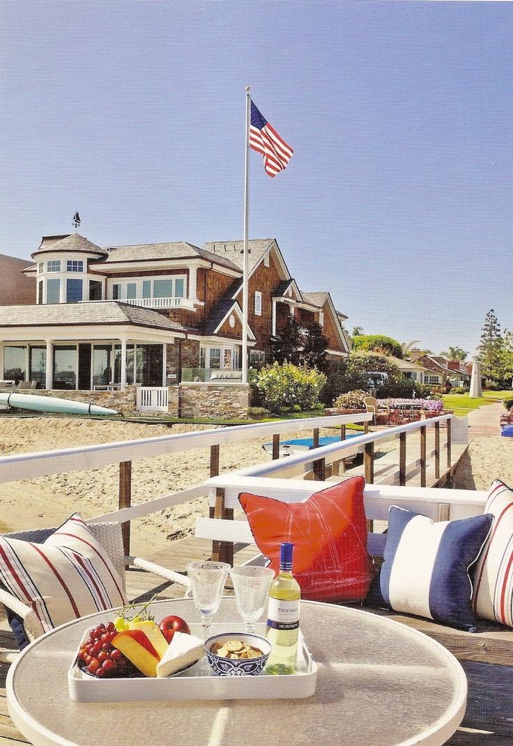 The white apron newport beach - Newport Beach Red White Blue By Barclay Butera
