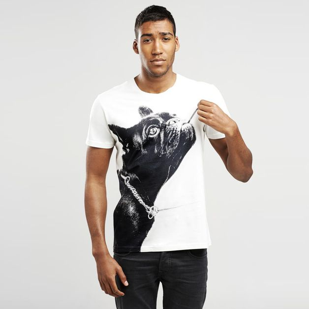 Mens Plain T-Shirts – French Bulldog men's T-shirt - SELVA – a unique product by SelvaStore on DaWanda