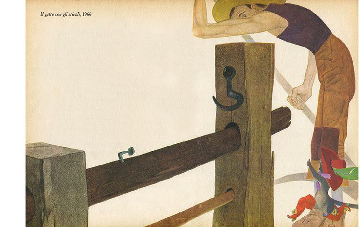 """Ugo Fontana illustration for """"Il Gatto con gli stivali""""."""