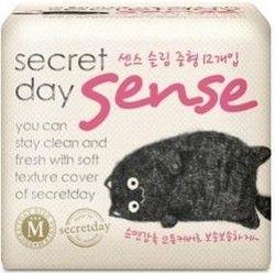 Secret Day Sense Medium - Прокладки ультратонкие дышащие органические 24 см, 12 шт (фото)