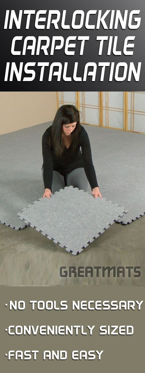 Interlocking Carpet Tiles are easy to install. Watch this video to see just how easy it is!