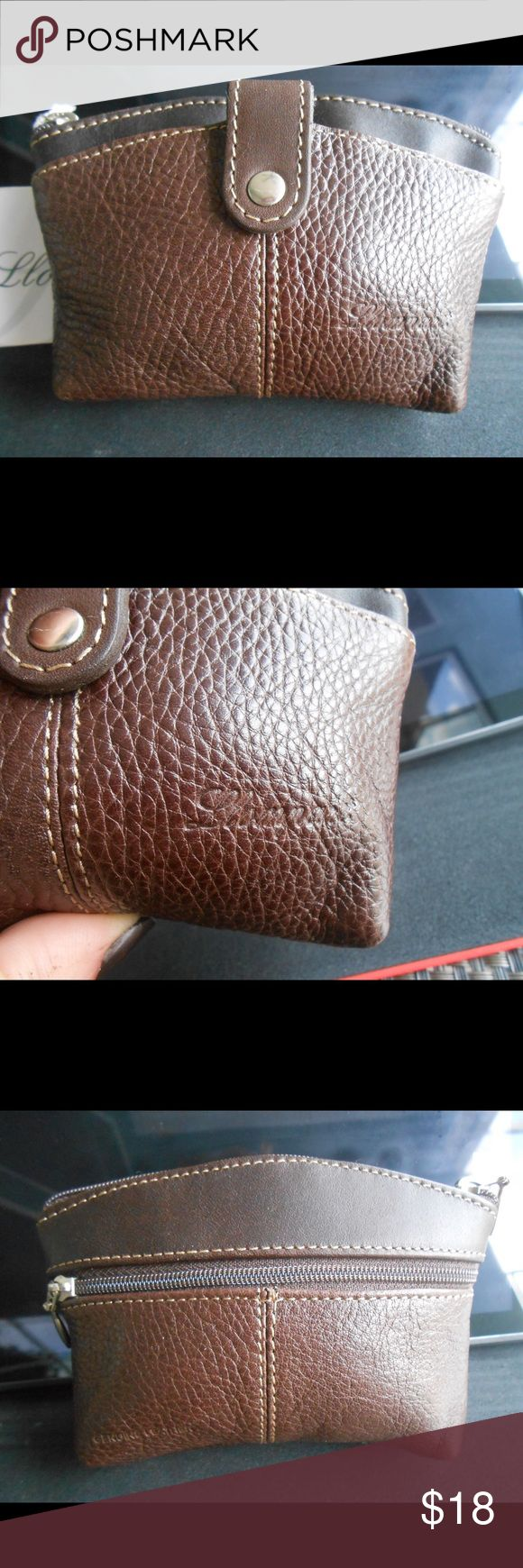 "6"" Genuine Mexican Leather Purse Small Brown textured leather purse measures 4""x 6"" with silver-tone hardware. One pocket with snap closure, center pocket with zipper closure, and rear pocket with zipper closure. Brand embossed (as shown). All lined, never used, and NWT. Llompart Bags Wallets"