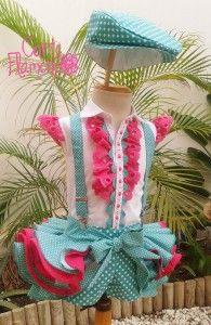 original traje de flamenca, corte flamenco, traje de gitana, vestido para feria, niña, flada corta con volantes, falda corta de flamenca, novedad traje de flamenca, 2014 , feria mal