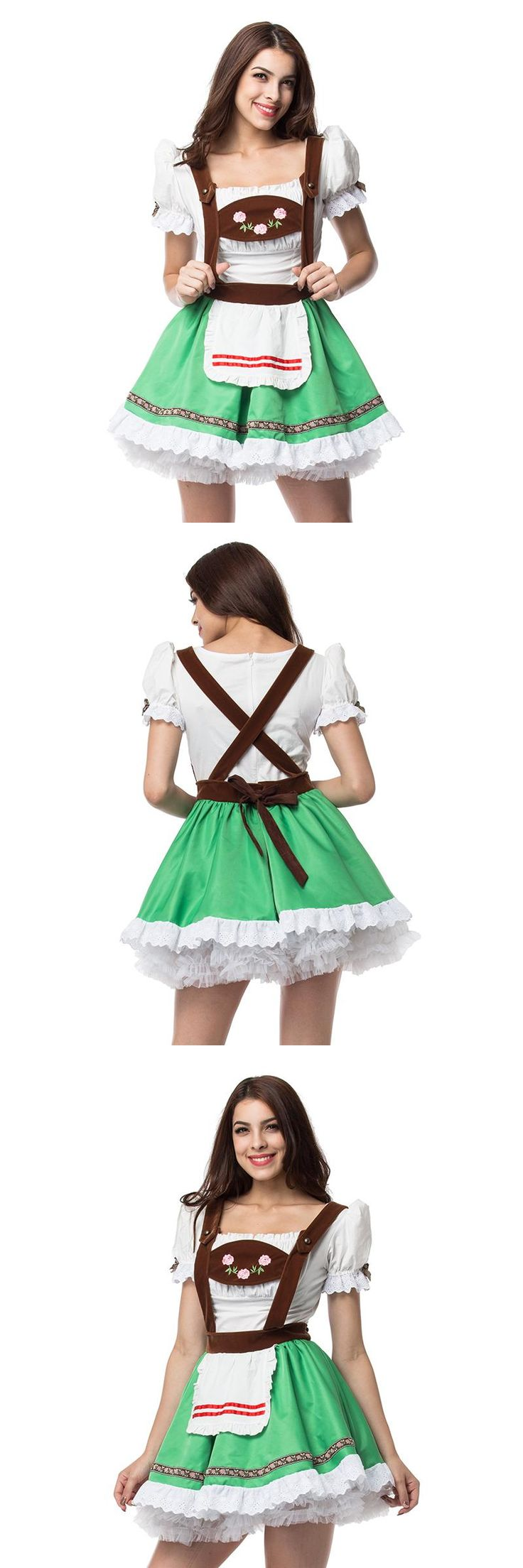 Maid Service Temptation Beer Girl Oktoberfest Costume German Wench Fancy Cosplay L15515