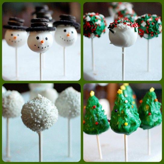 Lecca lecca al cioccolato a forma di albero e pupazzo di neve