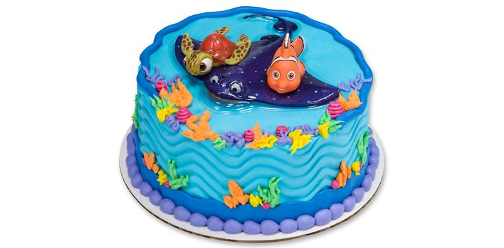 How-To Make a Finding Nemo Cake Featuring Nemo & Squirt