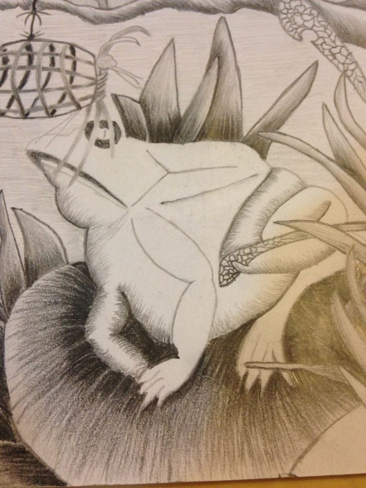 A small section of a larger pencil drawing.