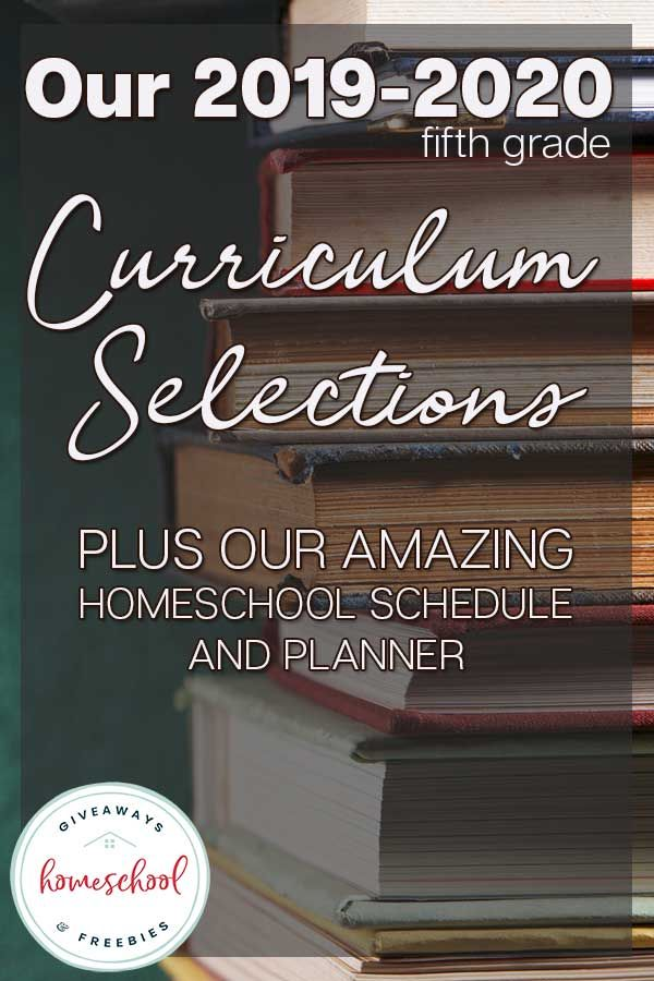 Best Giveaways 2020 Our 2019 2020 Curriculum Selections + Homeschool Schedule and