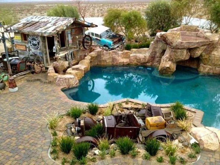 17 best images about redneck mansion 5 star on pinterest we hillbilly and the roof for Beverly hillbillies swimming pool