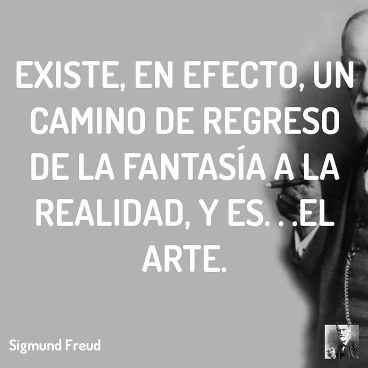 Existe, en efecto, un camino de regreso de la fantasía a la realidad, y es. . .el arte.  #lacan #freud
