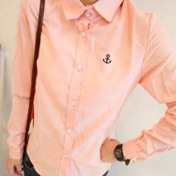 เสื้อเชิ๊ต Sailor Pink