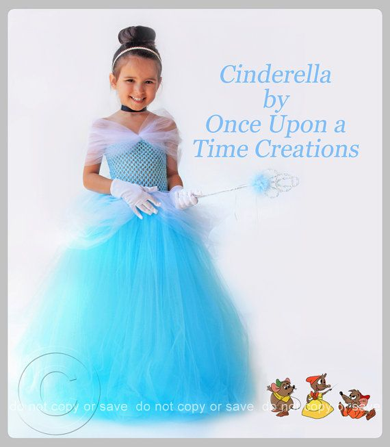 Cinderella Inspired Princess Tutu Dress - Birthday Outfit, Photo Prop, Halloween Costume - 12M 2T 3T 4T 5T - Disney Cinderella Inspired.