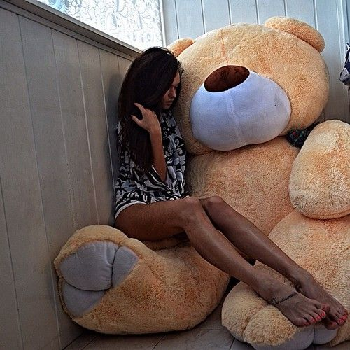 Sorry, not Girl rides teddy bear