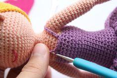 Вязание крючком каркасные куклы схемы описание