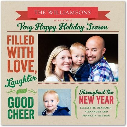 Cool typography on family Christmas card.
