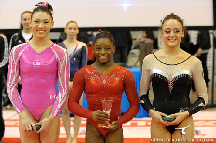 2013 City of Jesolo Trophy Balance Beam Medalists 1. Simone Biles (USA) 2. Kyla Ross (USA) 3. Elisabetta Preziosa (Italy)