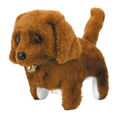 Generic Plush Neck Bell Walking Barking Electronic Dog Toy